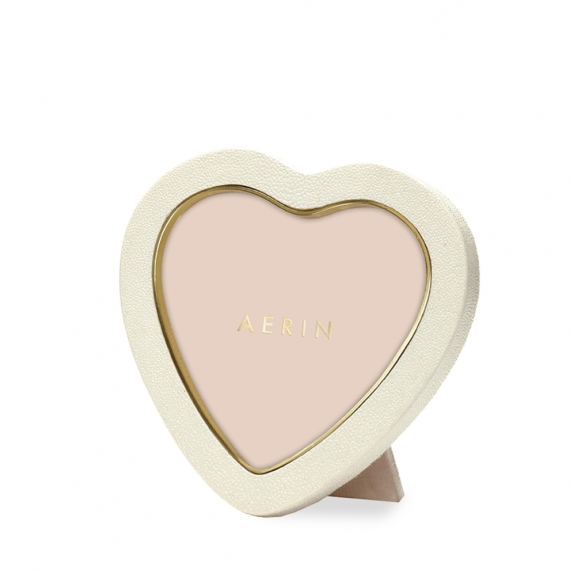 Shagreen Heart Frame - Cream