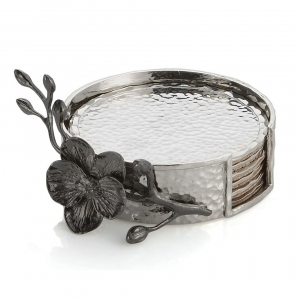 Michael Aram Black Orchid Coaster (Set Of 6) Silver